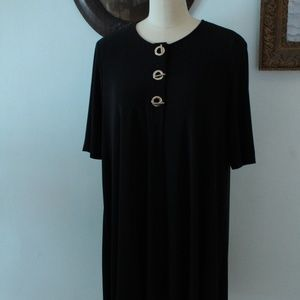 Black Stretch Knit Joseph Ribkoff Dress